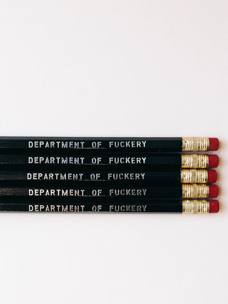 Pencil Set: DEPARTMENT OF F*CKERY