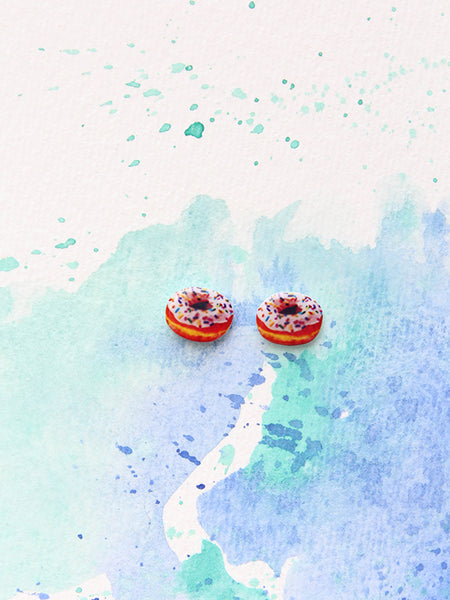sleepy mountain donut earrings