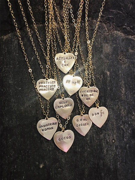 Go Ahead and Tell Em Necklaces: BRASS $28-$30
