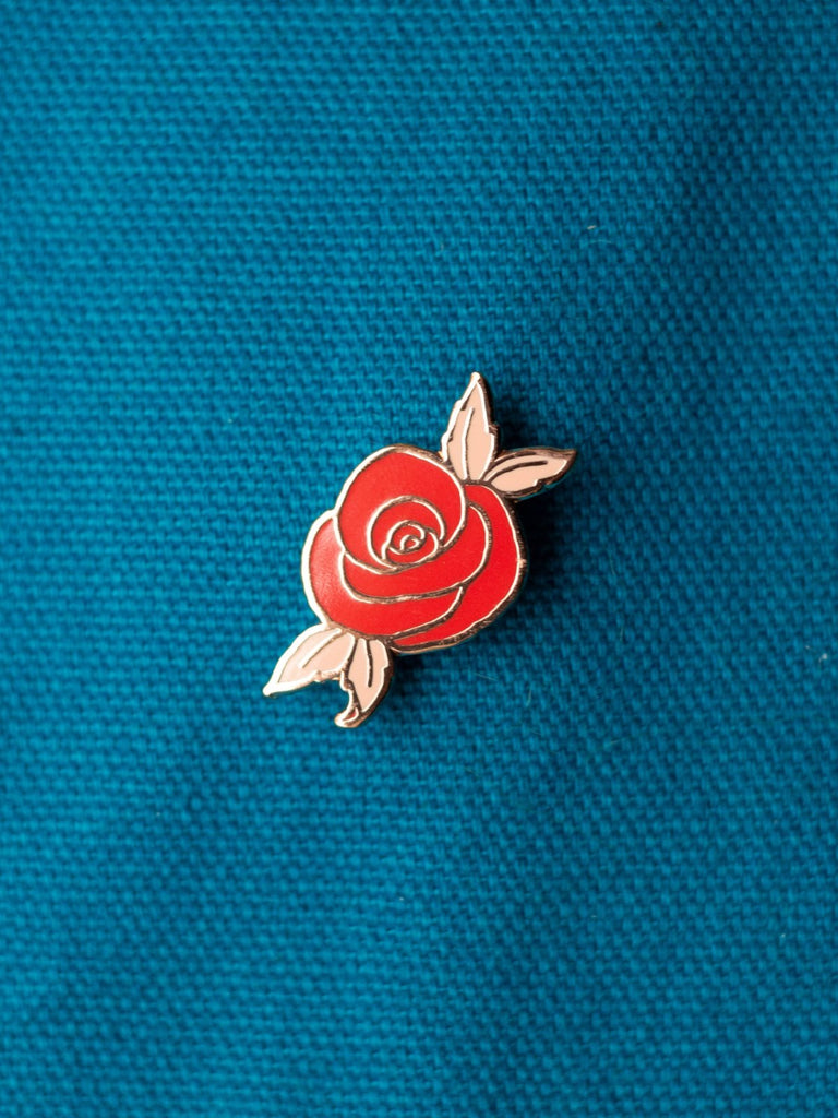 eradura enamel pin desert rose red