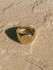 Everything Will Be OK Signet Ring: Brass