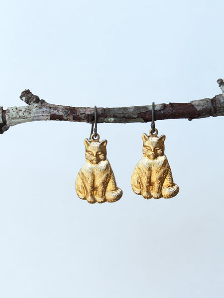 fat cat earrings