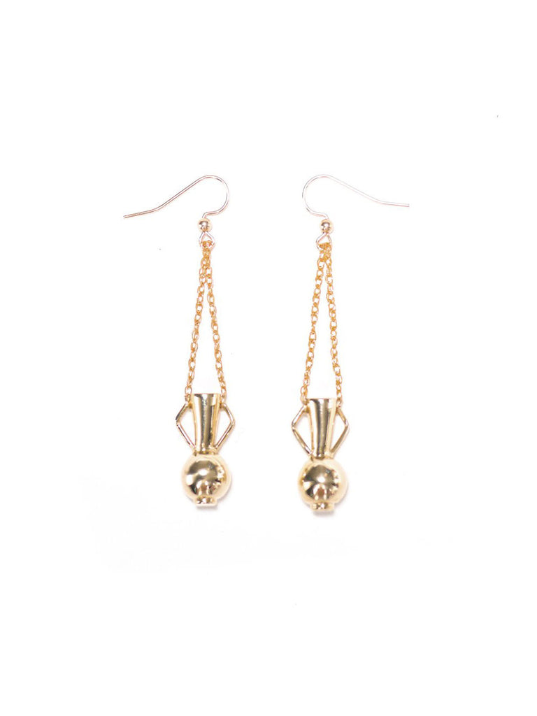 Fountain of Youth Earrings: Gold Plated