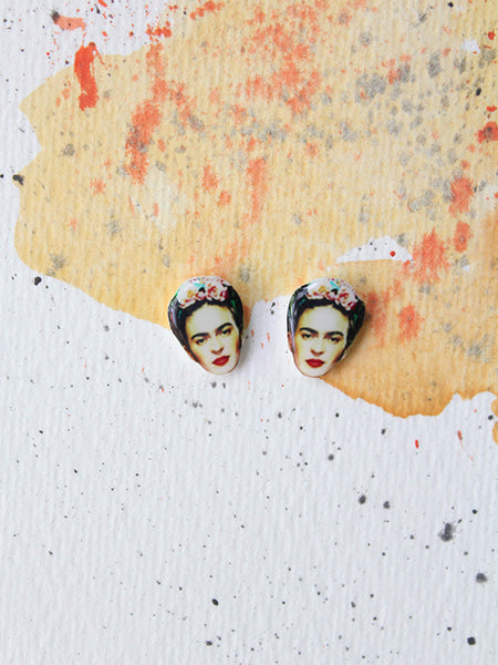 sleepy mountain frida kahlo earrings