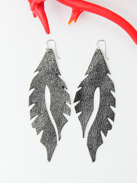 Leather Feather Minis: Graphite