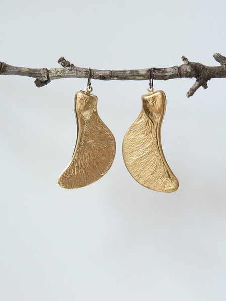 propeller seed earrings
