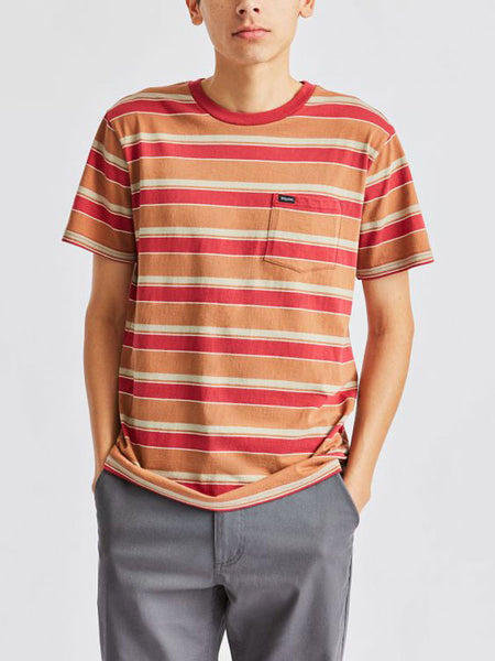 Hilt S/S Pocket Knit Tee: Lava Red