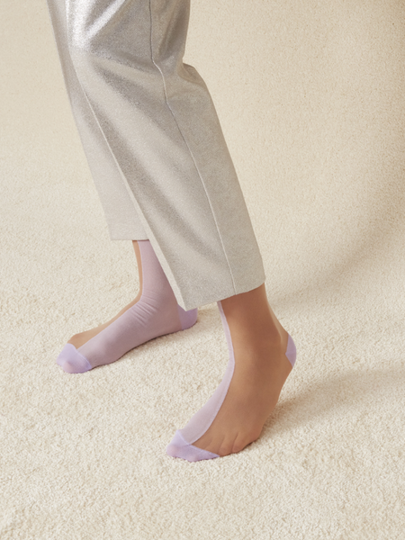 Filippa Ankle Sock: Pastel Purple