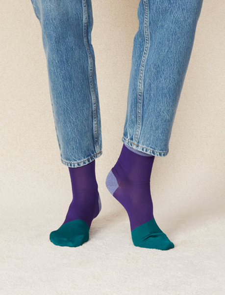 Liza Ankle Sock: Regal Purple