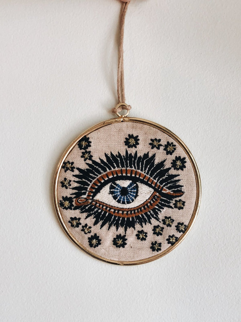 evil eye lucky eye nazar embroidered