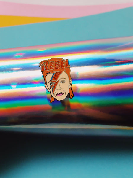 David Bowie Rebel Pin