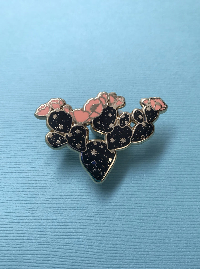 Cosmic Cactus Pin: In Bloom