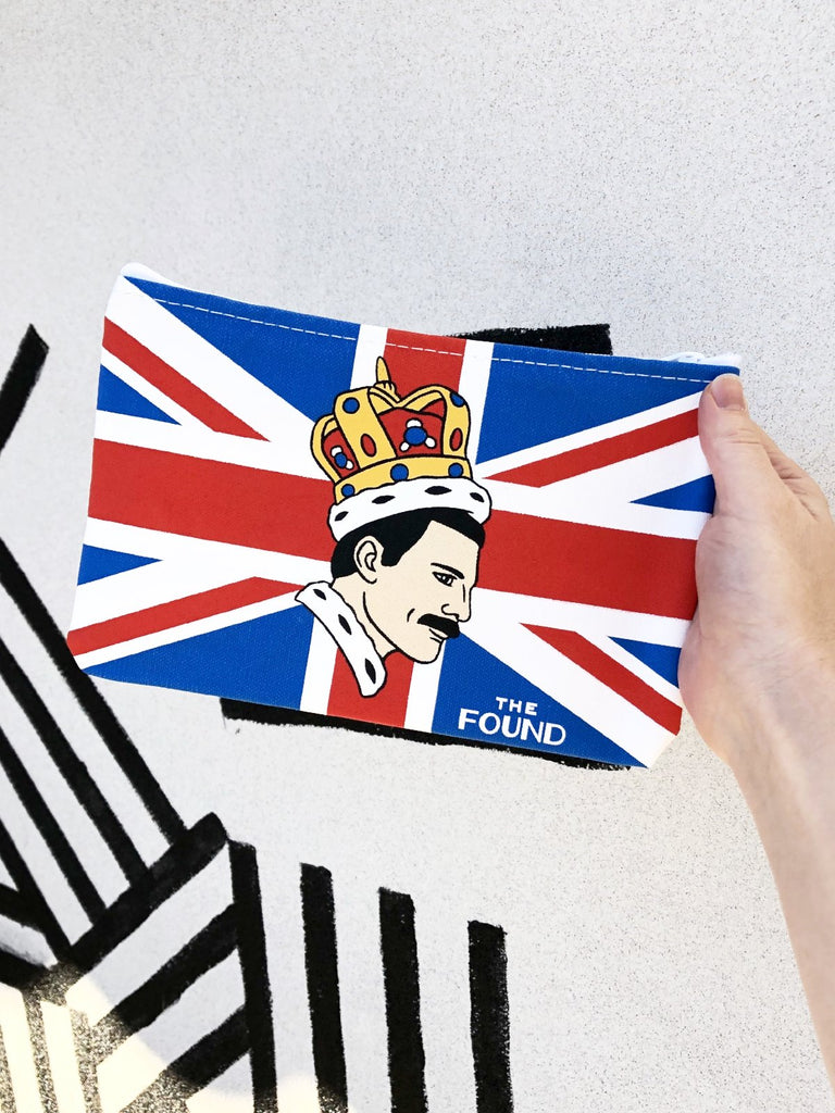 freddie mercury screen printed pouch the found