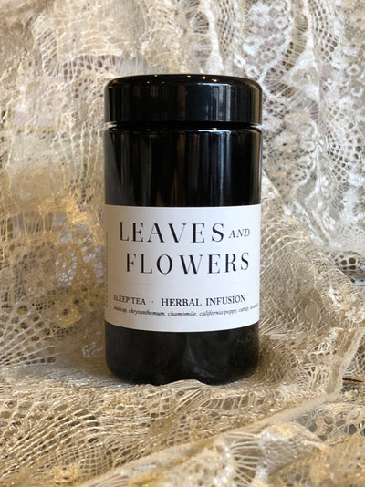 leaves and flowers sleep tea renew edge of urge herbal tea
