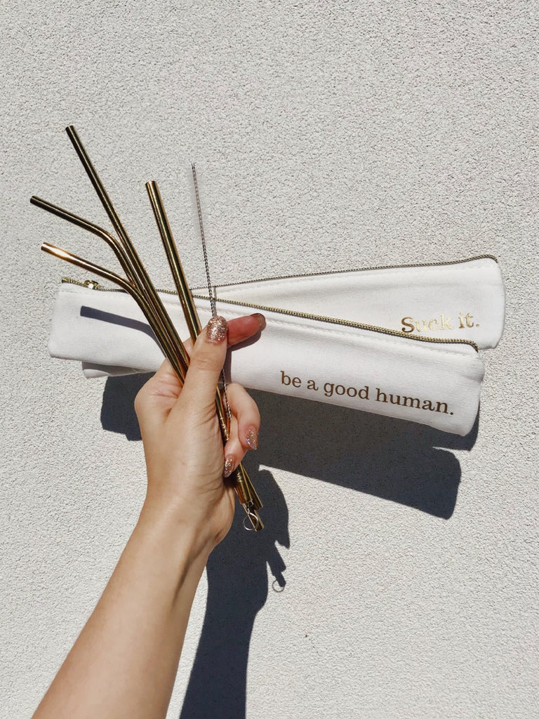 last straw reusable straws eco friendly waste free gold straw set be a good human earth friendly