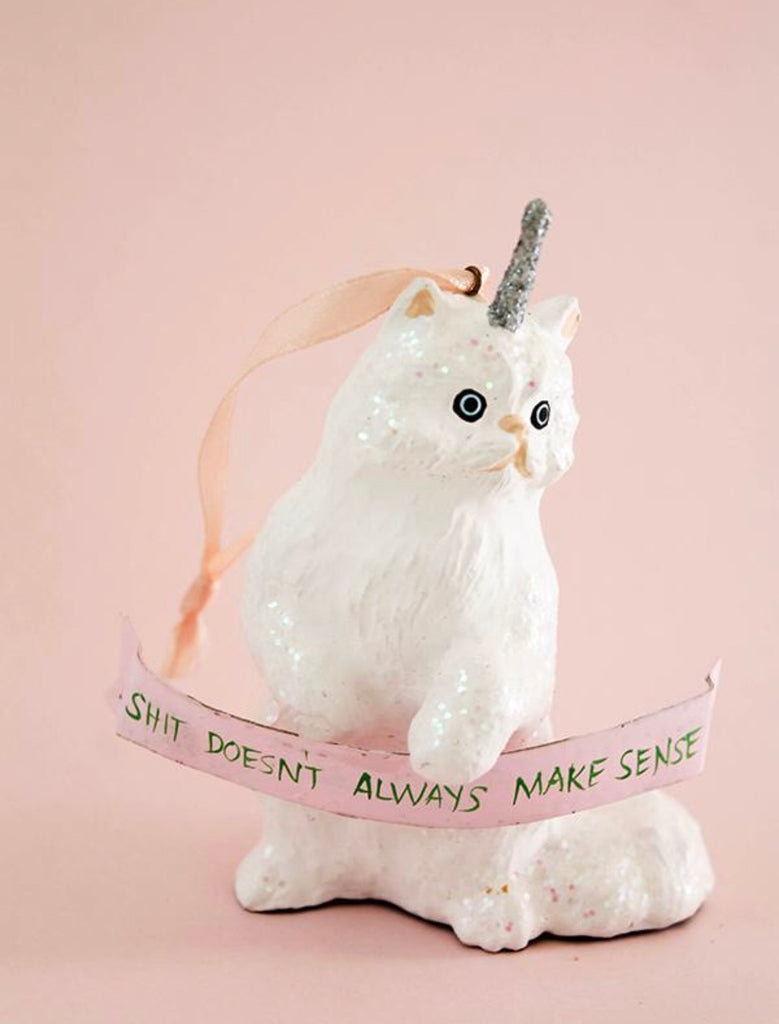 Magical Fantastical Unicorn Kitten Ornament