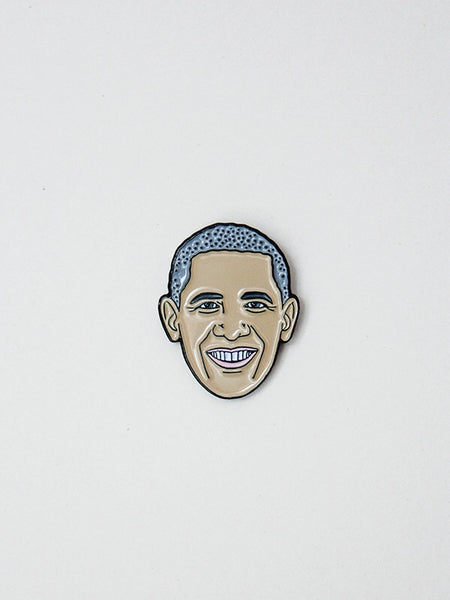 barack obama soft enamel pin the found