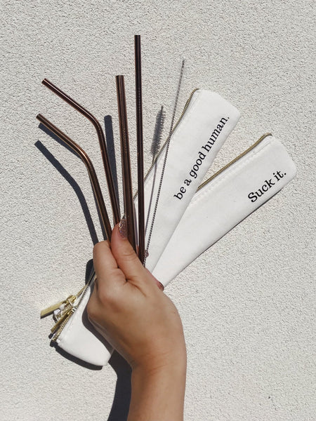 last straw reusable straws eco friendly waste free rose gold straw set be a good human earth friendly