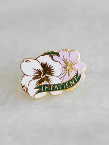 Impatient Lapel Pin