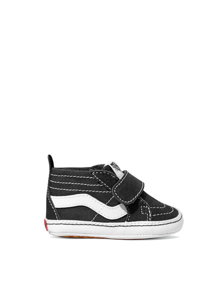 unique vans infant sk8-hi crib black baby shoes, baby vans, baby shoes, infant vans, cool baby shoes, cool baby gifts, unique baby gifts