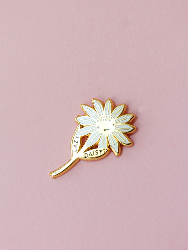stay home club Lazy Daisy pin