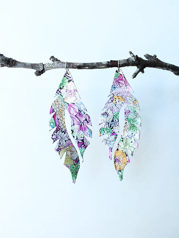 Leather Feather Minis:  French Floral
