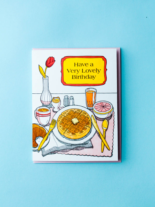 Lovely Birthday Breakfast Card