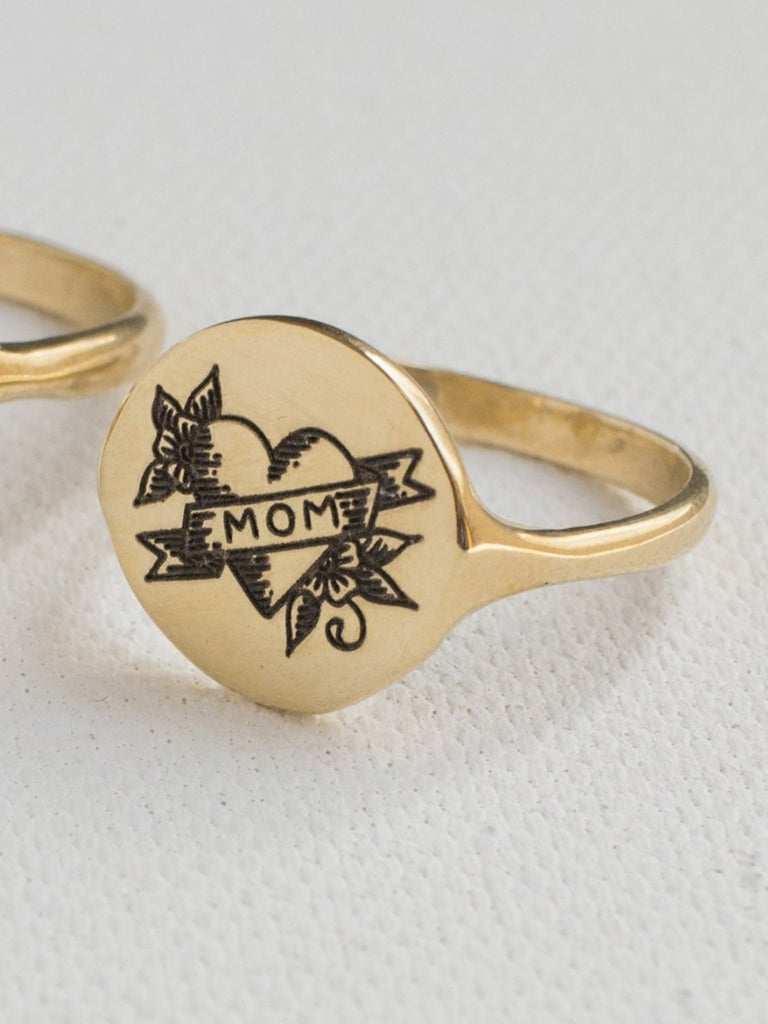 merewif forever gold ring mom