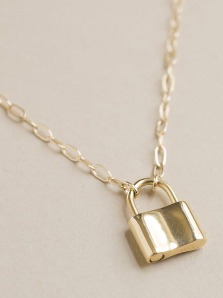 merewif holmes necklace gold plate