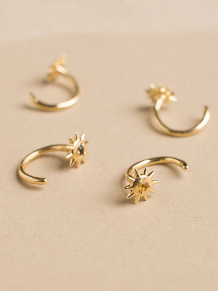 merewif star bright huggies earrings citrine gold