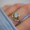 Blue Opal Mermaid Ring