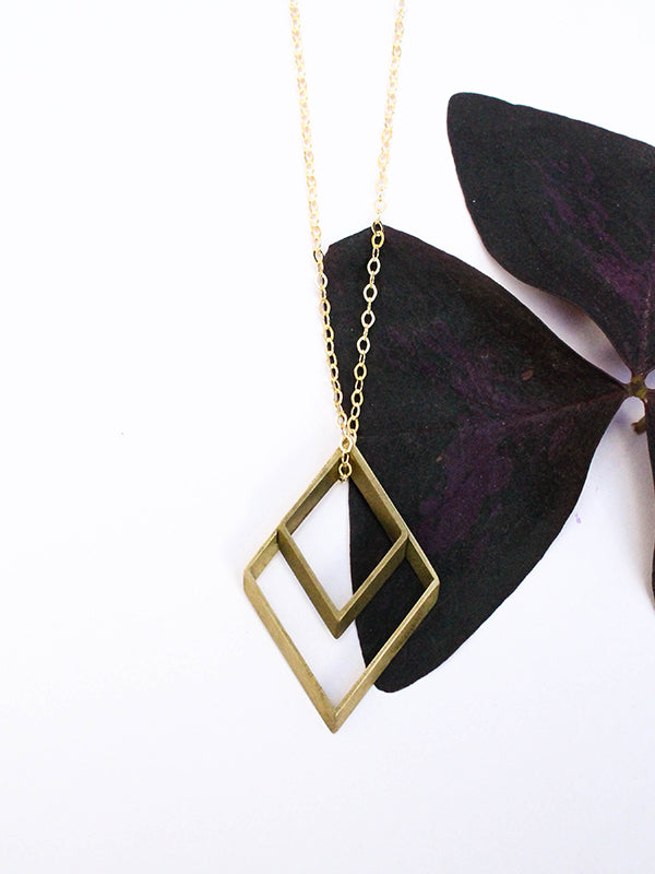 Vintage Remix Necklace: Double Rhombus