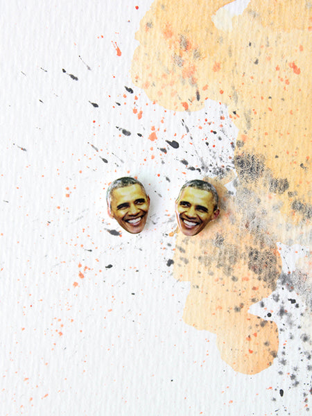 sleepy mountain barack obama earrings