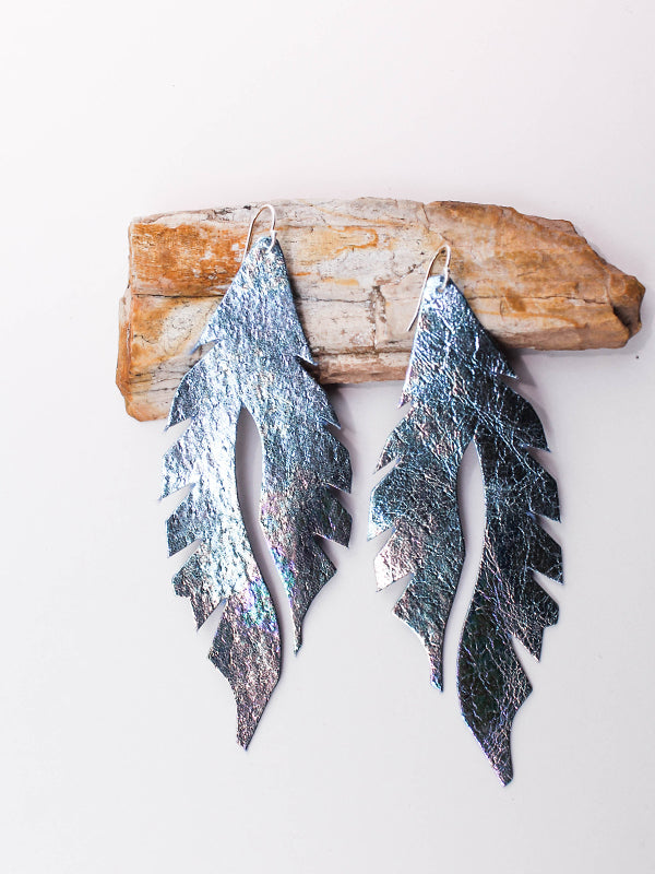Leather Feather Minis: Oil Slick