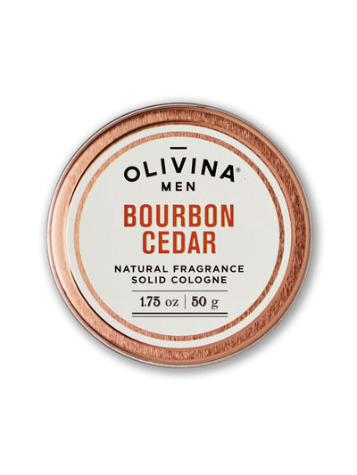olivina men solid cologne bourbon cedar