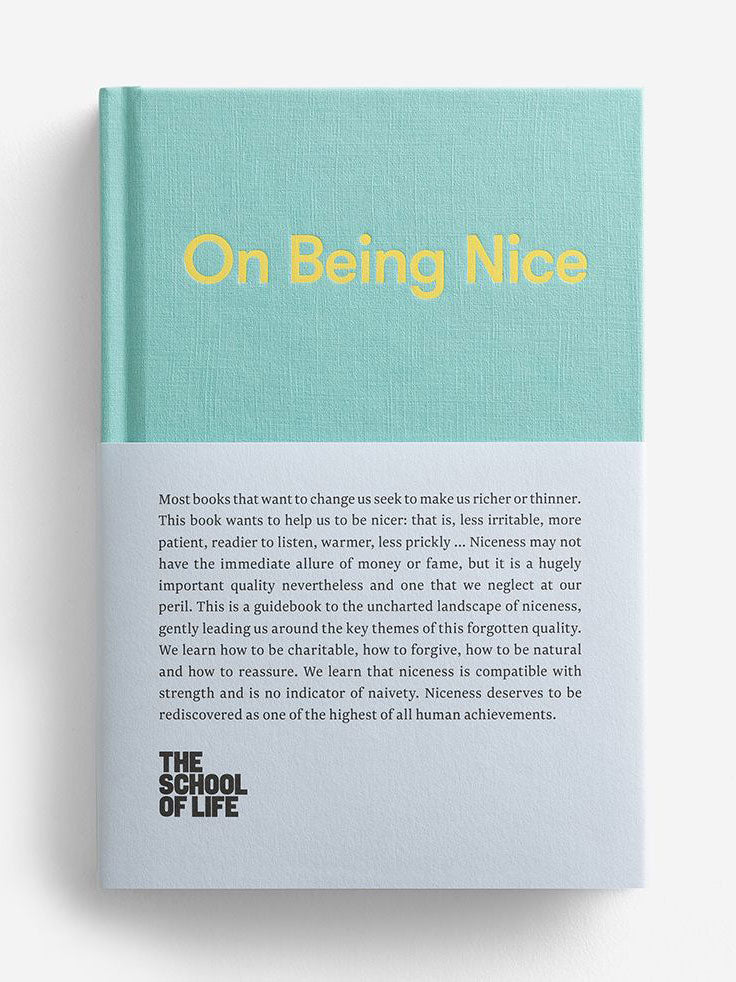 on being nice school of life