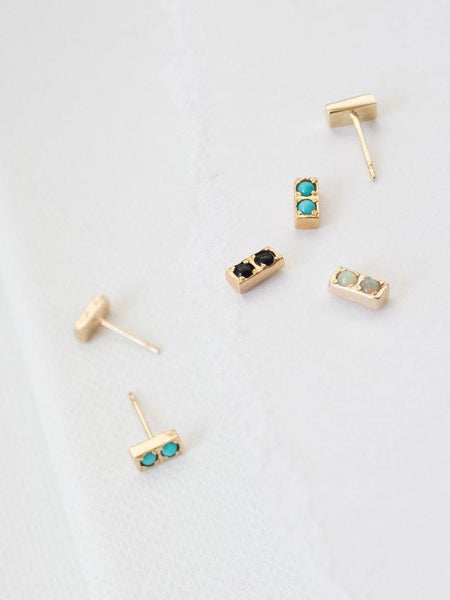 Doubles Earrings: Opal