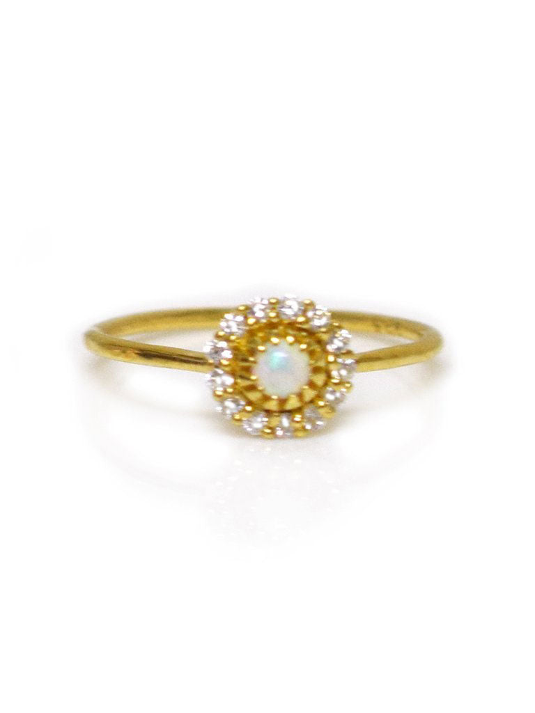 Opal & Diamond Parisian Blossom Ring