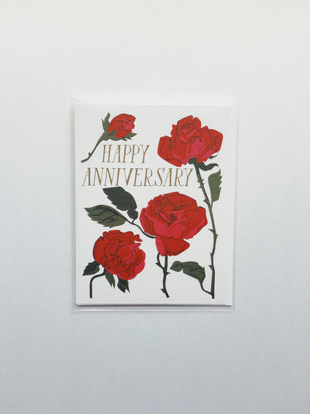 Happy Anniversary Roses Card