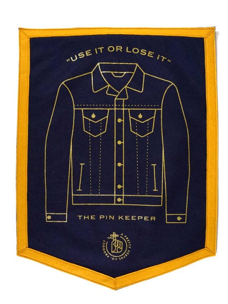 Pin Keepers Denim Jacket Camp Flag