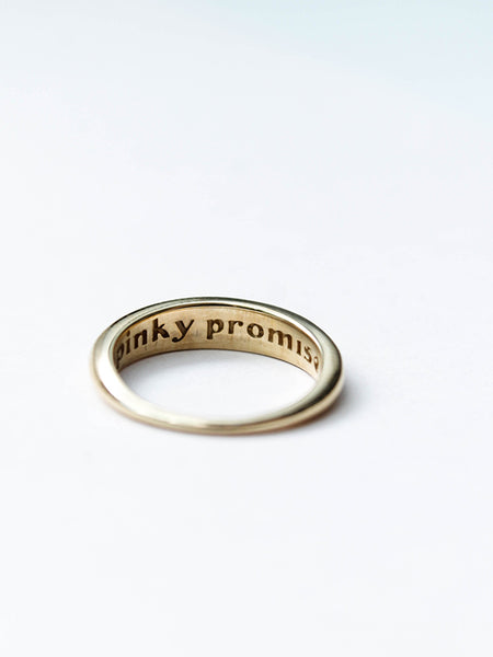 Pinky Promise Ring: Gold Plated