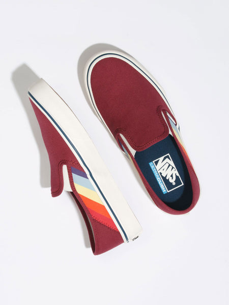 Slip-On SF: Rad Rainbow (Biking Red/Marshmallow)