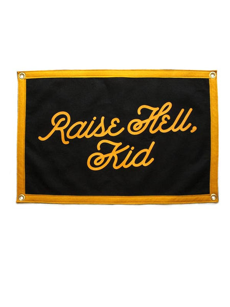 Raise Hell Kid Camp Flag