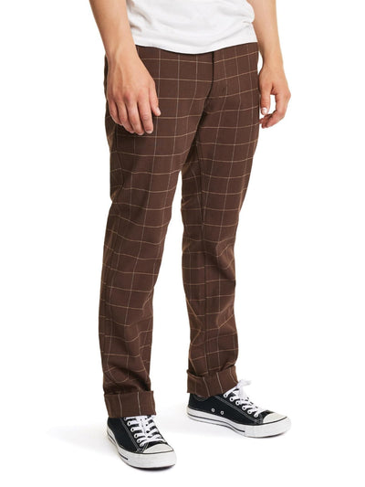 brixton reserve chino brown plaid