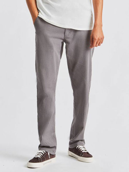 Reserve Chino Pant: Grey Gingham