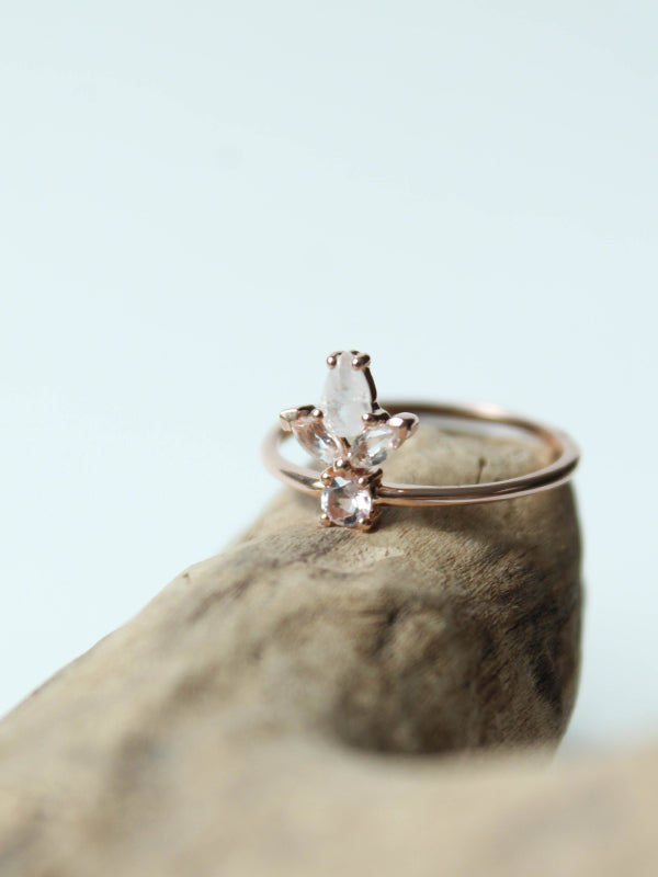 topaz rose gold ring