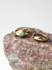 Emmeline Ring Set: Brass, Turquoise