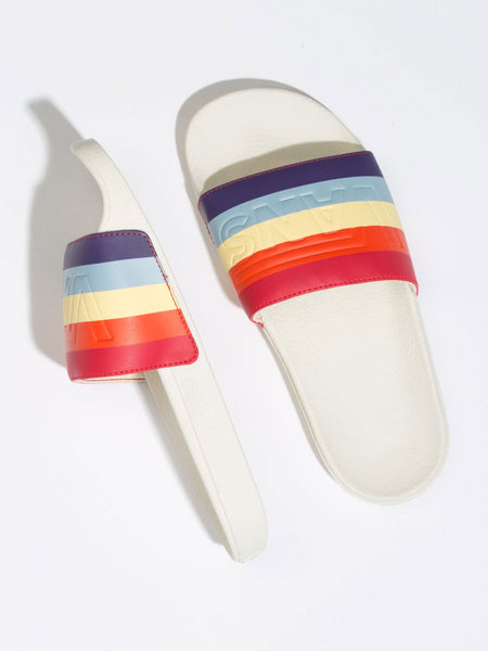 Slide-On Sandal: Rad Rainbow/Marshmallow