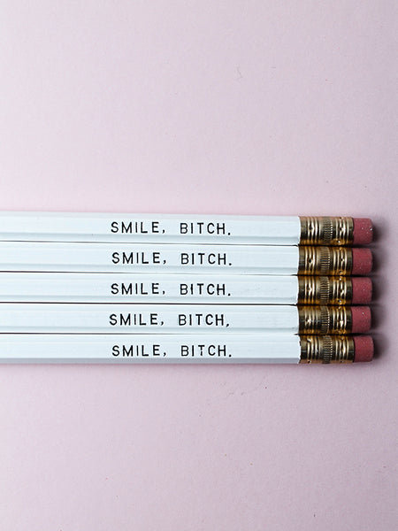 Pencil Set: SMILE B*TCH