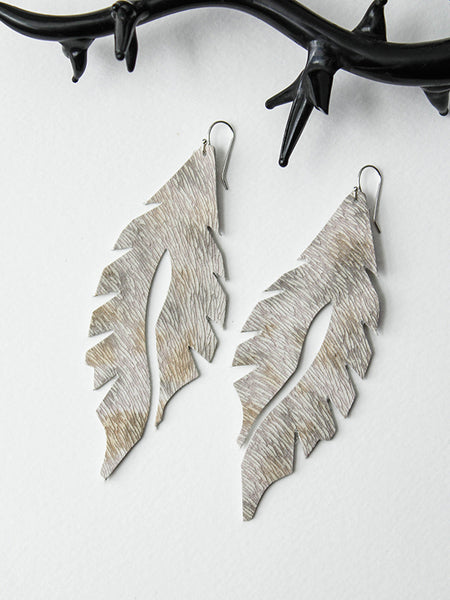 Leather Feather Minis: Snow Leopard